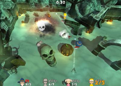 Super Snow Fight - Graveyard