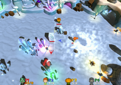 Super Snow Fight at the Mine
